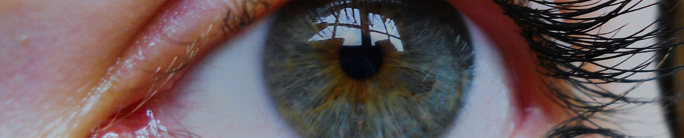 Imagine de aproape a ochilor albaștri ai unei femei